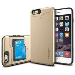 Aizmugures apvalks Spigen Slim Armour CS telefonam Apple iPhone 6 Plus, Zelts cena un informācija | Maciņi, somiņas | 220.lv