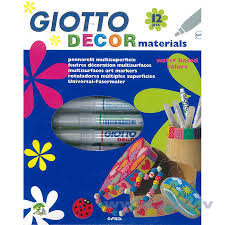 Flomasteri Fila Giotto Decor Materials, 12 krāsas, 453400