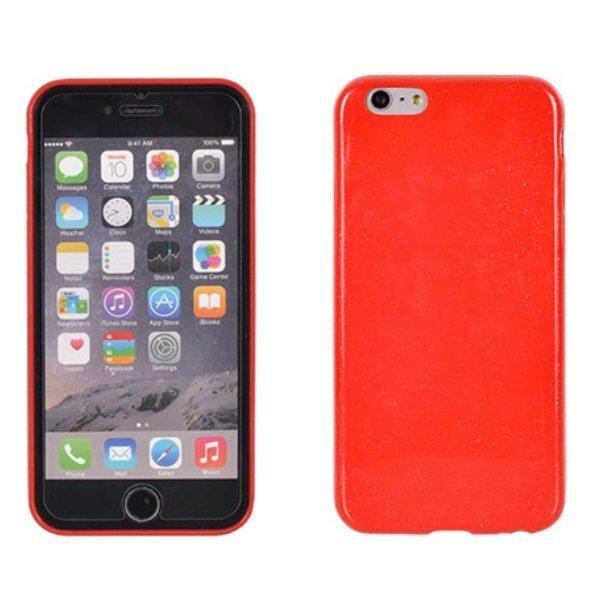 Telone Candy Super Plāns 0.3mm Silikongēla Telefona Apvalks ar spīdumiem priekš LG G4 Stylus H635, sarkana cena un informācija | Maciņi, somiņas | 220.lv