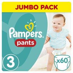 Подгузники PAMPERS Pants 3 размер., 60 шт. цена и информация | Подгузники и аксесуары | 220.lv