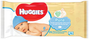 Salvetes Huggies Pure Single, 56gab.
