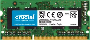 Crucial 4GB DDR3 PC3-12800 CL11 SO-DIMM CT51264BF160BJ cena un informācija | Crucial 4GB DDR3 PC3-12800 CL11 SO-DIMM CT51264BF160BJ | 220.lv