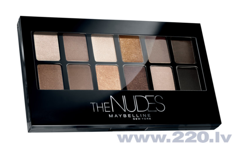Maybelline The nudes acu ēnu palete, 9.6 g
