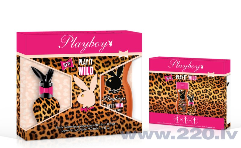 Komplekts Playboy Play It Wild: edt 30 ml + dušas želeja 250 ml