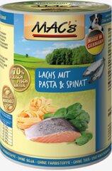 Konservi suņiem Mac's Dog Salmon with Pasta & Spinach 800 g