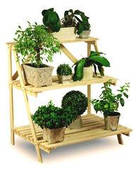 Koka statīvs ziediem cena un informācija | Ziedu statīvi, puķu podu turētāji | 220.lv