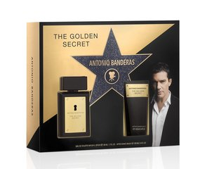 Komplekts Antonio Banderas The Golden Secret: EDT 50 ml + pēc skūšanas balzāms 100 ml