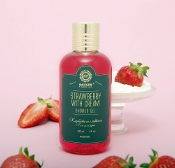 Dušas gels Saules Fabrika Strawberry with Cream 200 ml