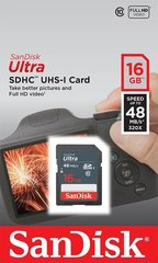 SANDISK 16GB Ultra SDHC 48MB/s Class 10 UHS-I