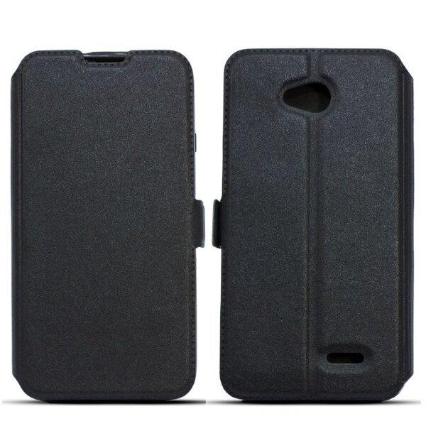 Telone Super plāns sāniski atverams maciņš ar stendu Samsung Primo S5610 Melns cena un informācija | Maciņi, somiņas | 220.lv