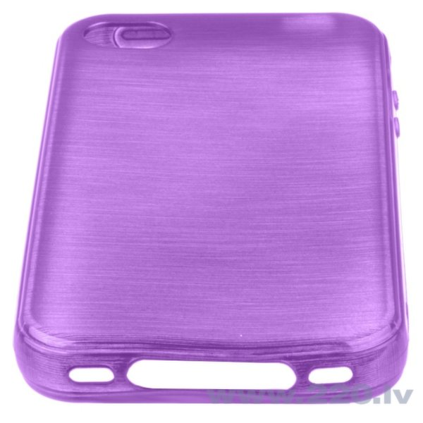 Forcell Jelly Brush Perlamutra telefona silikona apvalks Apple iPhone 4 4S Violets cena