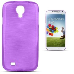 Forcell Jelly Brush Perlamutra telefona silikona apvalks Samsung i9500 Galaxy S4 Violets