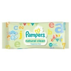 Salvetes PAMPERS Natural Clean, 64 gb.