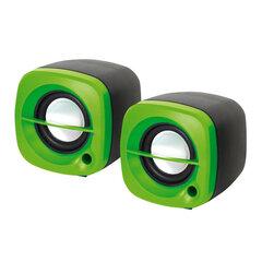 Skaļruņi Omega2.0 OG-15 6W USB, zaļi cena un informācija | Skaļruņi | 220.lv