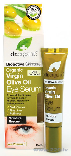 Serums ādai ap acīm Dr. Organic Vrigin Olive Oil 15 ml