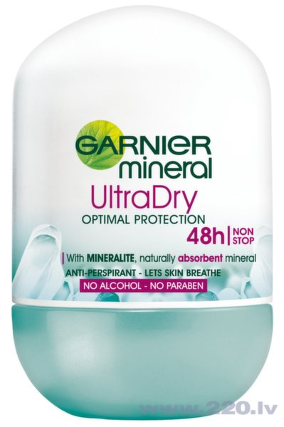 Dezodorants rullītis Garnier Mineral Ultra Dry Optimal Protection 50 ml
