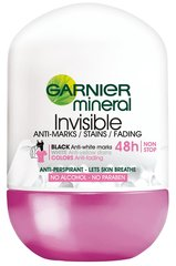 Dezodorants rullītis Garnier Mineral Invisible Black White Colors 50 ml