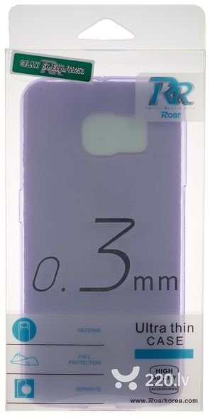 Roar Super Plāns 0.3mm Premium Kvalitātes Aizmugures Apvalks Samsung G355H Galaxy Core 2 Caurspīdīgi Violets (EU Blister) cena