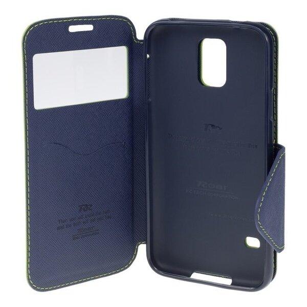 "Roar Fancy Diary Sāniski atverams maks ar lodziņu un stendu Apple iPhone 6 Plus 6S Plus 5.5"" Sarkans/Zils (EU Blister) cena"