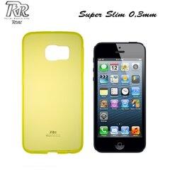 Roar Super Plāns 0.3mm Premium Kvalitātes Aizmugures Apvalks Apple iPhone 5 5S Caurspīdīgi Dzeltens (EU Blister) cena un informācija | Roar Super Plāns 0.3mm Premium Kvalitātes Aizmugures Apvalks Apple iPhone 5 5S Caurspīdīgi Dzeltens (EU Blister) | 220.lv