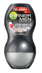 Dezodorants rullītis Garnier Men Mineral Invisible Black White Colors 50 ml