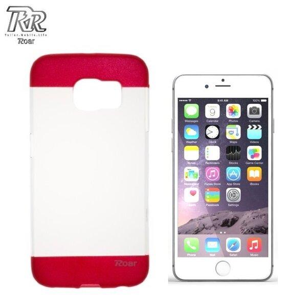 """Roar Fit Up Силиконовый чехол для мобильного телефона Apple iPhone 6 Plus 6S Plus 5.5"""", Прозрачный/Красный (EU Blitser)"""