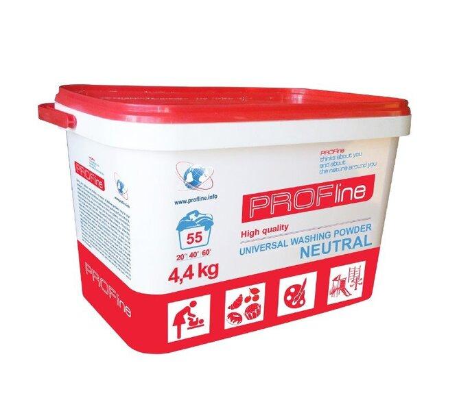 Neitrāls bērnu veļas mazgāšanas pulveris PROFline 4,4 kg.