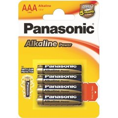Baterijas Panasonic Alkaline LR03 (AAA) cena un informācija | Baterijas Panasonic Alkaline LR03 (AAA) | 220.lv