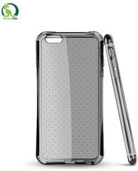GreenGo Triecien-izturīgs Super Plāns 0.5mm Punktots Silikona Aizmugures apvalks Samsung i9500 Galaxy S4 Caurspīdīgi melns (EU Blister) cena un informācija | Maciņi, somiņas | 220.lv