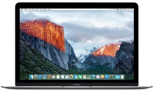 "Apple MacBook 12"" Space Gray MLH72 ENG (Early 2016)"