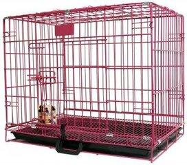 Металлическая клетка для животных Happy Pet, розовая, 46x30x37 см