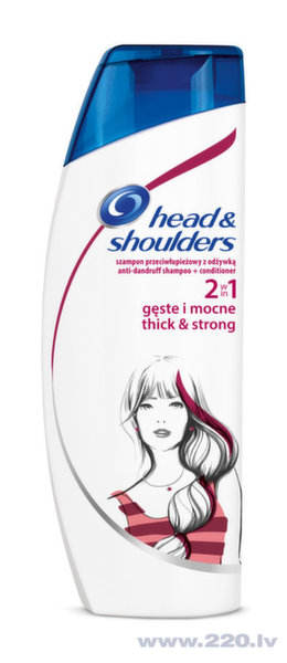 Šampūns Head&Shoulders Thick&Strong 2in1, 360 ml
