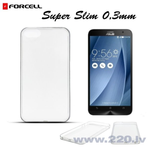 Forcell Ultra Slim 0.3mm Back Case Asus Zenfone 2 (5.5) ZE551ML super plāns apvalks Caurspīdīgs
