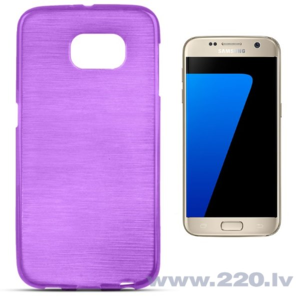 Forcell Jelly Brush Perlamutra telefona silikona apvalks Samsung G930F Galaxy S7 Violets