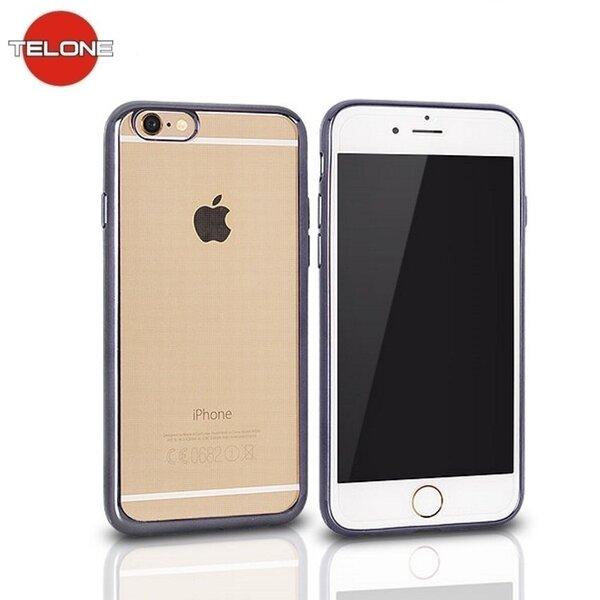Telone Супер тонкий силиконовый чехол для мобильного телефона Apple iPhone 4 4S с серой рамочкой