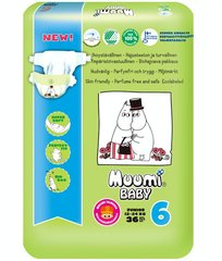 Подгузники Muumi Baby Junior (6) 12-24 кг, 36 шт.