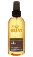 Izsmidzināms aizsargājošs losjons Piz Buin Wet Skin Transparent SPF15 150 ml cena un informācija | Sauļošanas, solāriju krēmi | 220.lv