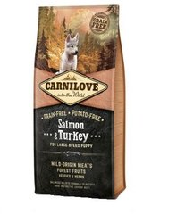 Carni Love Salmon & Turkey Puppy Large Breed 12 кг