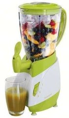 DomoClip DOP141BV Blender with dispenser, 1.5 L plastic jar capacity, 2 settings, Pulse switch, Stainless steel blades, Green/White