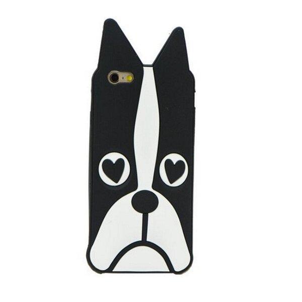 Zooky Силиконовый 3D чехол для мобильного телефона LG K10 K430, Бульдог Чёрный