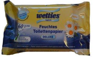 Влажные туалетные салфетки Wetties, 60 шт.
