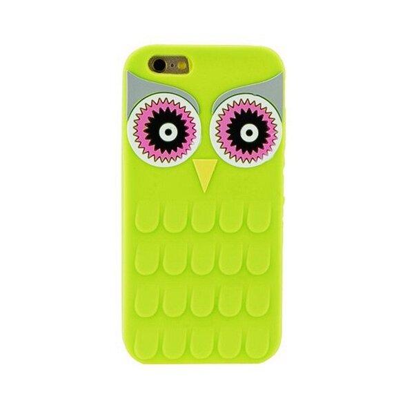 Zooky Silikona 3D telefona apvalks Samsung G920 Galaxy S6 Zaļa Pūce
