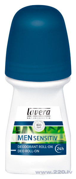 Viriešu dezodorants 24 h Lavera Men Sensitive 50 ml