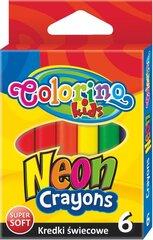 Vaska krītiņi COLORINO KIDS, 6 krāsas, 67287PTR cena un informācija | Modelēšanas un zīmēšanas piederumi | 220.lv