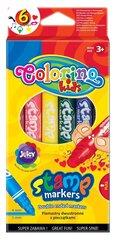Flomāsteri - zīmogi COLORINO KIDS, 6 krāsas cena un informācija | Modelēšanas un zīmēšanas piederumi | 220.lv