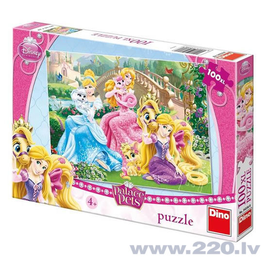 Пазл DINO Princess Palace Pets in the Park, XL 100 дет, 343368