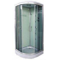 Masāžas dušas kabīne K890 80x80 grey