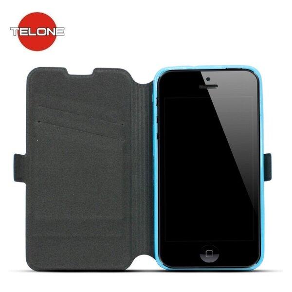 Telone Супер тонкий Чехол-книжка со стендом HTC Desire 530 Синий