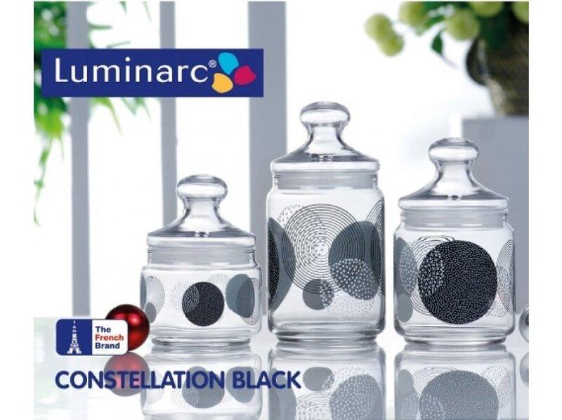Trauki LUMINARC Club Zoom Black, 3 gab.
