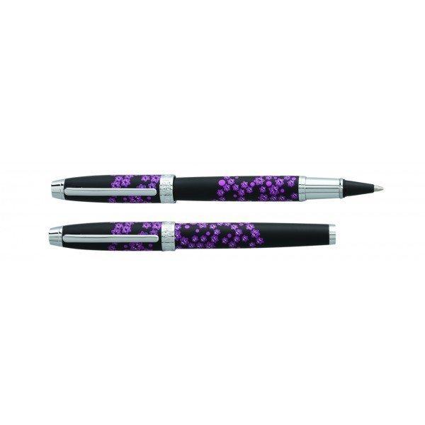 Rullīšu pildspalvas ar ziediem Sign Mini Enzo Varini SE82314